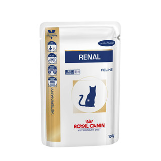 Royal Canin Feline Renal Wet Food - 12 x 85g Pouches[Flavour:Chicken]