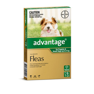 Advantage for Puppies and Small Dogs Up to 4kg (Green)