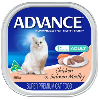 Advance Adult Cat Wet Food Chicken & Salmon Medley 7 x 85gm