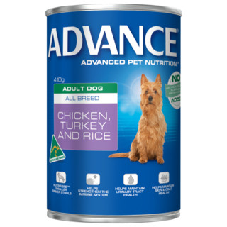Advance Adult All Breed Wet food - Turkey and Rice[Size:12x700g Cans]