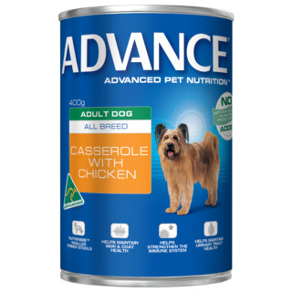 Advance Adult Dog All Breed Wet Food - Casserole with Chicken[Size:12x700g Cans]