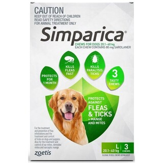 Simparica Large Dog 20.1-40kg