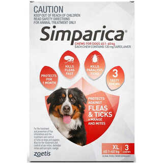 Simparica Extra Large Dog 40.1-60kg