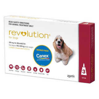 Revolution for Medium Dogs 10.1-20kg (Red)