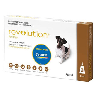 Revolution for Small Dogs 5.1-10kg (Brown)