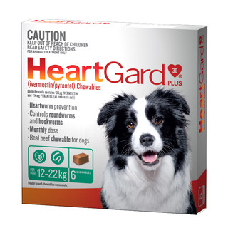 Heartgard 30 Plus Chews for Medium Dogs 12-22kg (Green)