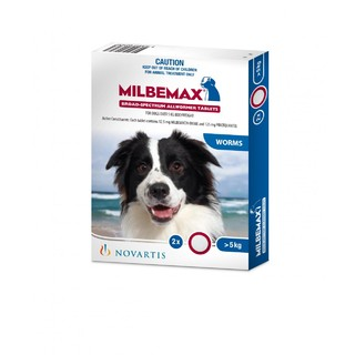 Milbemax for Dogs 5-25kg[Size:50 Pack]