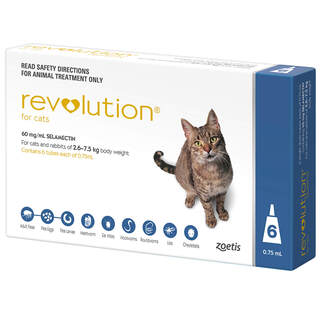 Revolution for Cats 2.6-7.5kg (Blue)
