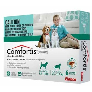 Comfortis Flea Tablets for Cats 5.5- 11.2kg (Green) (Size: 12 Pack)