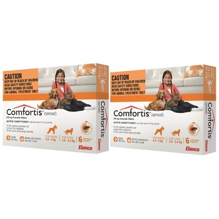 Comfortis Flea Tablets for Cats 2.8 - 5.4kg (Orange) [Size: 12 Pack]