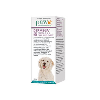 PAW Dermega  Omega 3 & 6 Oral Supplement 200mL