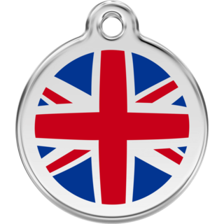 Red Dingo UK Flag Tag[Size:Large]  - Lifetime Guarantee - Cat, Dog, Pet ID Tag Engraved