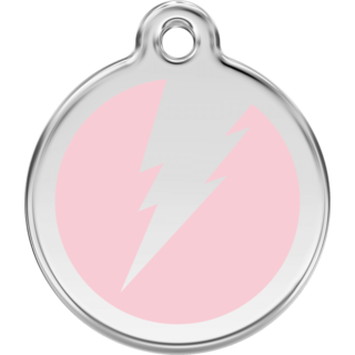 Red Dingo Flash Pink Tag - Lifetime Guarantee - Cat, Dog, Pet ID Tag Engraved