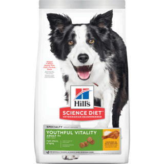 Hills Canine Science Diet Youthful Vitality Senior Adult 7+ Dry Dog Food