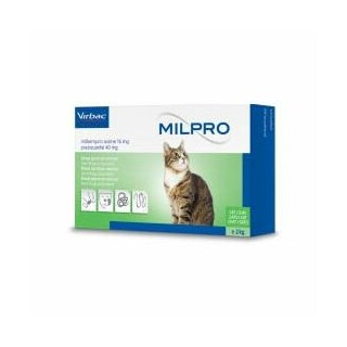Milpro Allwormer for Cats 2-8kgs