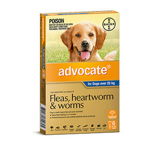Advocate for Dogs Over 25kg (Blue) - Fleas, Heartworm & Worms