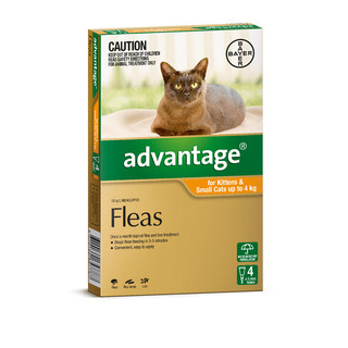 Advantage for Kittens and Small Cats Up to 4kg  (Orange)