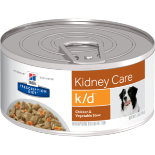 Hills Canine Prescription Diet Canine K/D - Kidney Care Chicken & Vegetable Canned Food 156g x 24