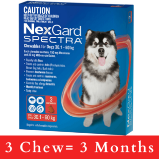 NexGard SPECTRA for Dogs 30.1 - 60kg (RED)